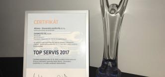 Ocenenie TOP SERVIS 2017