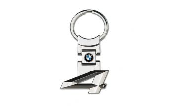 Kľúčenka s číslom rady 4 a logom BMW